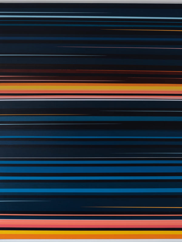 Untitled (Night series) - 2016, 150 cm x 120 cm, Acrylic on polyester